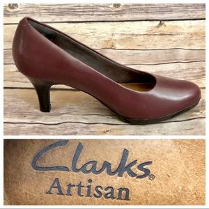 Clarks Artisan Active Air Leather Pumps Heel Shoes